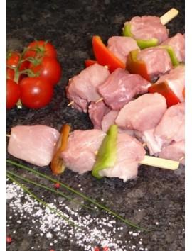 Brochettes de porc fermier