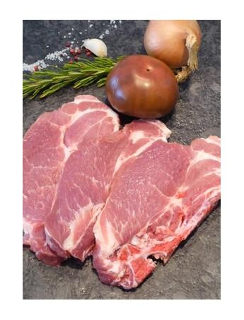 Côtes échine de porc fermier